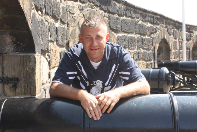 Marián Mirilovič at Edinburgh Castle, Scotland