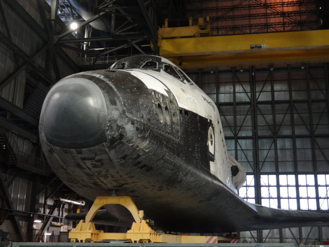 Space Shuttle Atlantis in the Vehicle Assembly Building