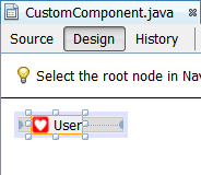 Custom component in the GUI builder